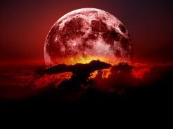 ... y la luna se tiñó de sangre...